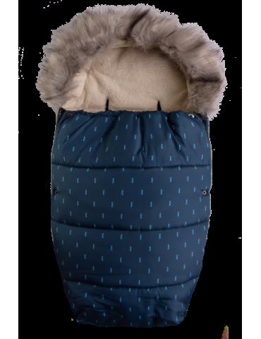 BabyMatex Venus Wąsy śpiworek mufka