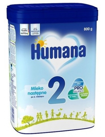 Humana 2 (myHumana Pack) Mleko następne po 6 miesiącu 800g