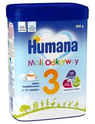 Humana 3 (myHumana Pack) Mleko modyfikowane po 12 miesiącu 800g