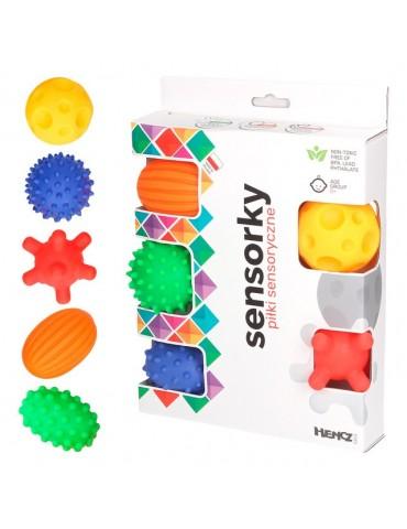 Mom's Care Hencz Toys Piłeczki sensoryczne 5szt pudełko