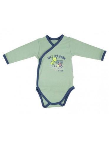 Body niemowlęce bawełniane rozpinane długi rękaw WORMS 52-62 Nicola