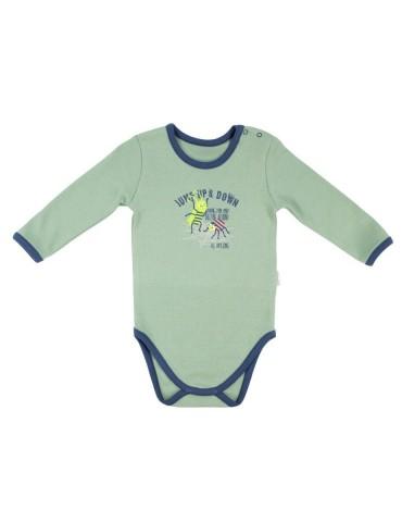Body niemowlęce bawełniane długi rękaw WORMS 68-74 Nicola
