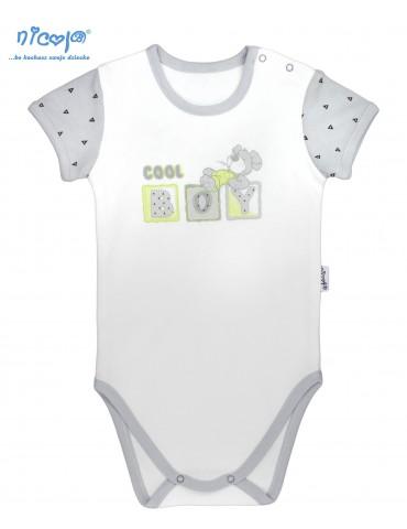 Body niemowlęce bawełniane krótki rękaw BOY 68-92 Nicola