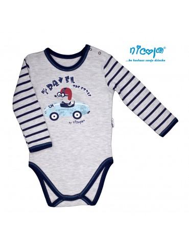 Body niemowlęce bawełniane długi rękaw CAR 68-92 Nicola