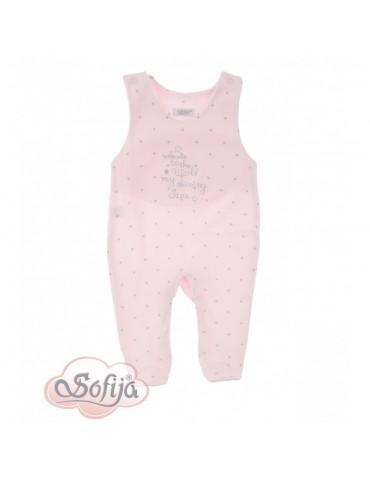 Śpioch niemowlęcy bawełniany różowy GWIAZDECZKA 50-62 Sofija