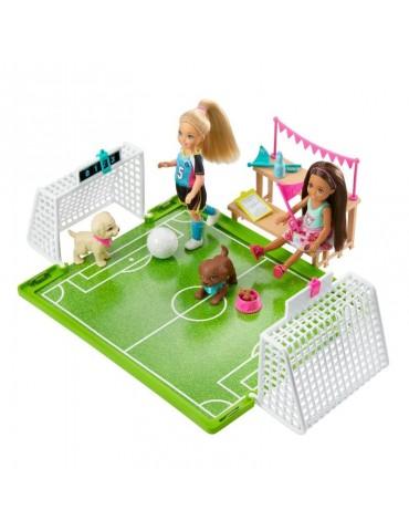 Barbie Dreamhouse Adventures  Zestaw Boisko do Piłki nożnej i Lalka Chelsea