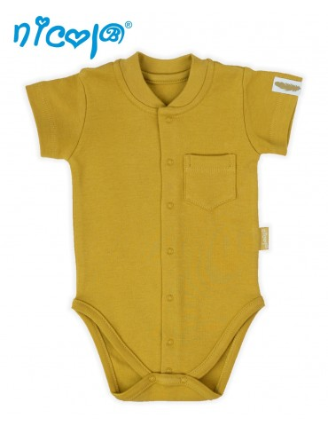 Body niemowlęce bawełniane krótki rękaw INDIAN 52-68 Nicola