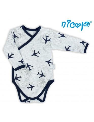 Body niemowlęce bawełniane długi rękaw PILOT 52-68 Nicola