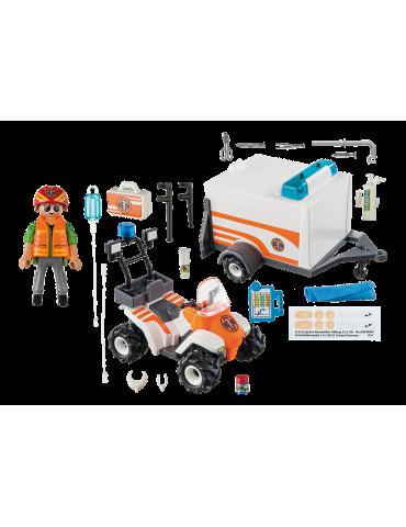 Playmobil Quad ratowniczy z przyczepą