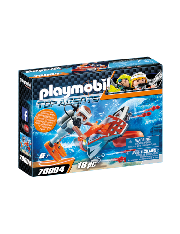 Playmobil SPY TEAM Pojazd podwodny z napędem