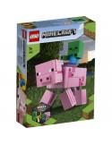 Lego Minecraft Minecraft BigFig Świnka i mały zombie