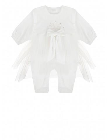 Pajac niemowlęcy bawełniany z tiulową spódniczką Royal 56-62 Sofija