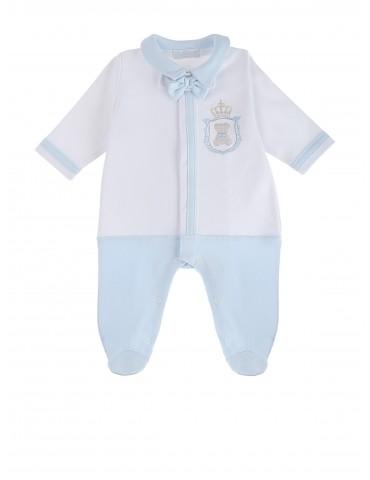 Pajac niemowlęcy bawełniany niebieski Don 56-68 Sofija