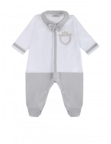 Pajac niemowlęcy bawełniany szary Don 56-68 Sofija