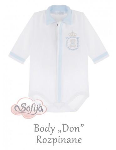 Body niemowlęce bawełniane długi rękaw niebieskie Don 56-68 Sofija
