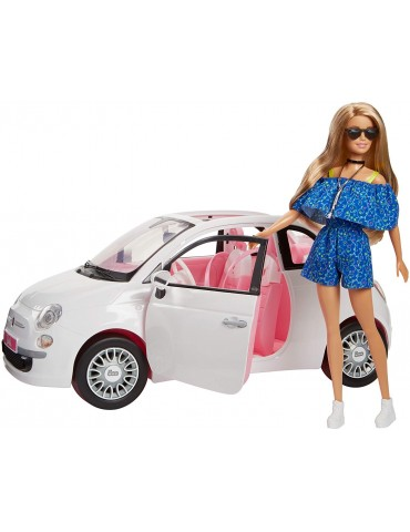 Barbie Auto Fiat 500 i Lalka