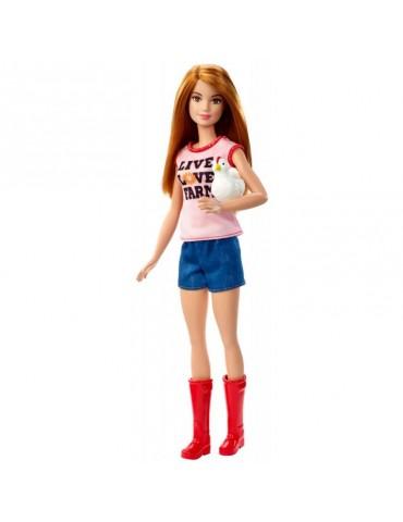 Barbie Lalka Farmerka z kurczętami z Akcesoriami