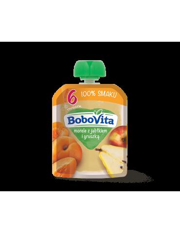 BoboVita Mus owocowy morele z jabłkiem i gruszką