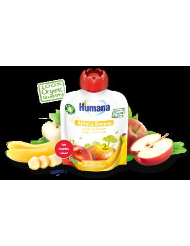 Humana Mus owocowy Jabłko & Banan 90g