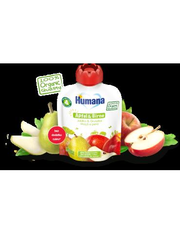 Humana Mus owocowy Jabłko & Gruszka 90g