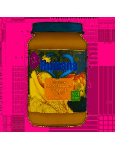 Humana 100% Organic Śniadanko jabłko z bananem na jogurcie z musli 190g