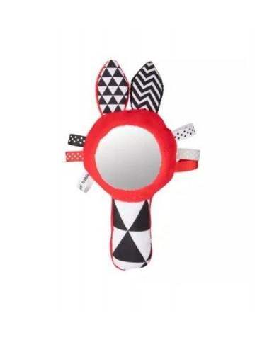 Canpol zabawka kontrastująca z piszczkiem i lusterkiem Sensory Toys
