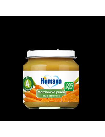 Humana 100% Organic marchewka puree