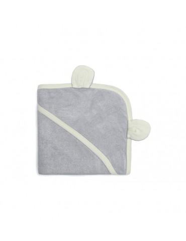 Pulp bambusowy ręcznik z kapturkiem z uszkami srebrzysty