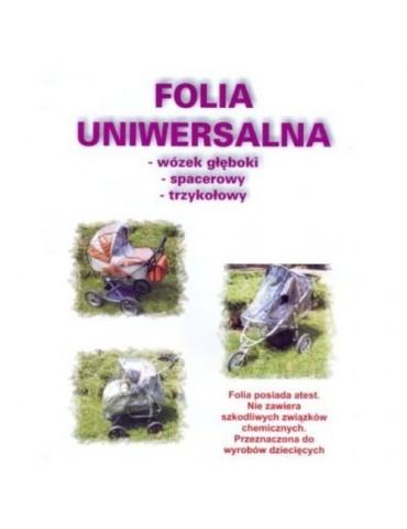 Folia na wózek przeciwdeszczowa UNIWERSALNA Jacuś