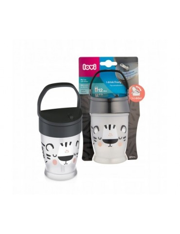 Lovi Kubek ze słomką Junior Salt&Pepper 250 ml 12 m+