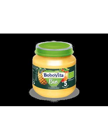 BoboVita Jabłka z ananasem Bio 125g