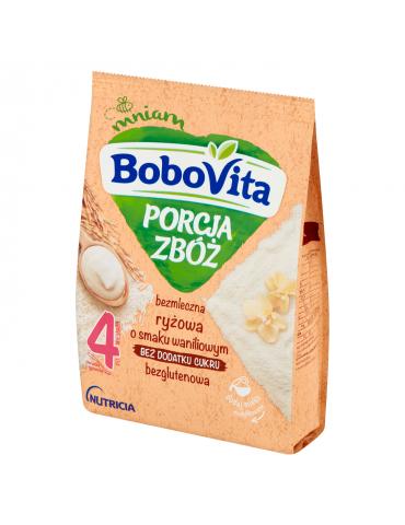 BoboVita Porcja Zbóż Kaszka bezmleczna ryżowa o smaku waniliowym po 4 miesiącu 170 g