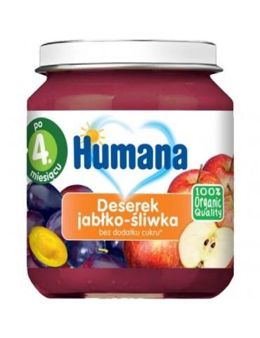 Humana Deserek jabłko śliwka po 4.miesiącu 100% Oragnic Quality 125 g Bio