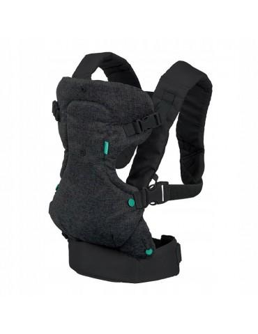 Infantino nosidełko 4 w 1 odciążające rodzica czarne