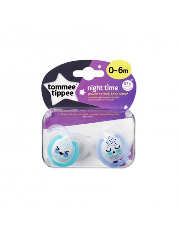Smoczek uspokajający Night Time Nowe Tommee Tippee 0-6m Nowe