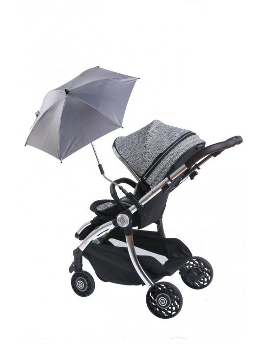 Angre Parasolka do wózka UV 50+ Dark Grey Titanium baby