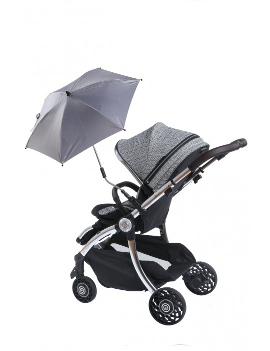 Angre Parasolka do wózka UV 50+ Black Titanium baby