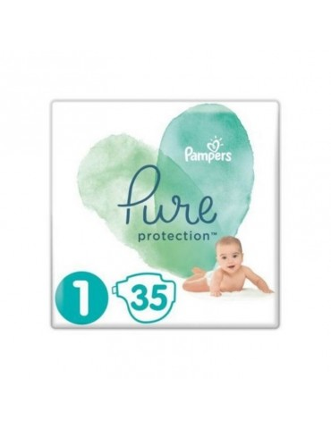 Pampers Pure Protection Pieluchy Newborn 1 (2-5 kg) 35 szt.
