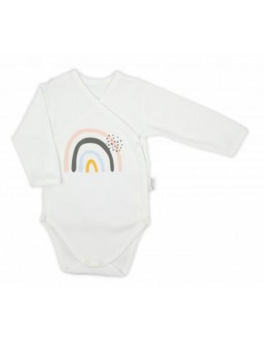 Body niemowlęce bawełniane długi rękaw RAINBOW 56-68 Nicola