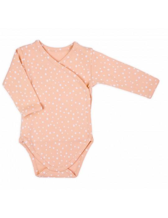 Body niemowlęce bawełniane długi rękaw druk RAINBOW 56-68 Nicola