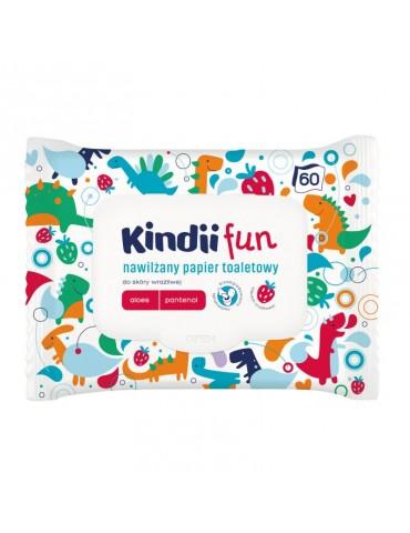 Cleanic Kindii Fun nawilżany papier toaletowy dla dzieci Aloes Pantenol