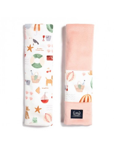 La Millou ochraniacze na pasy Organic Jersey Collection (French Riviera Girl Velvet Powder Pink)