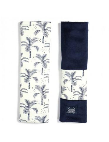 La Millou ochraniacze na pasy Organic Jersey Collection ( Cream Jungle Velvet Royal Navy )