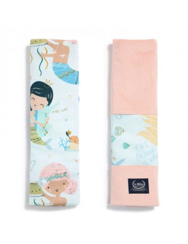 La Millou ochraniacze na pasy Organic Jersey Collection ( Mermaid Playground Velvet Powder Pink)
