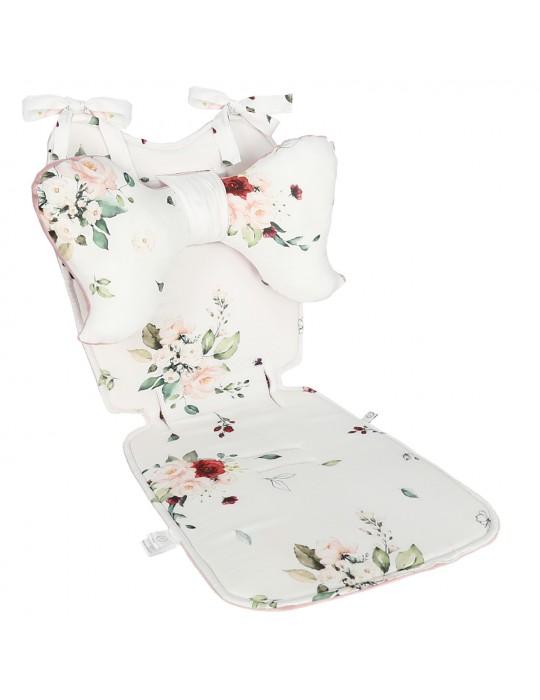 Yosoy Poduszka motylek do wózka Vintage roses