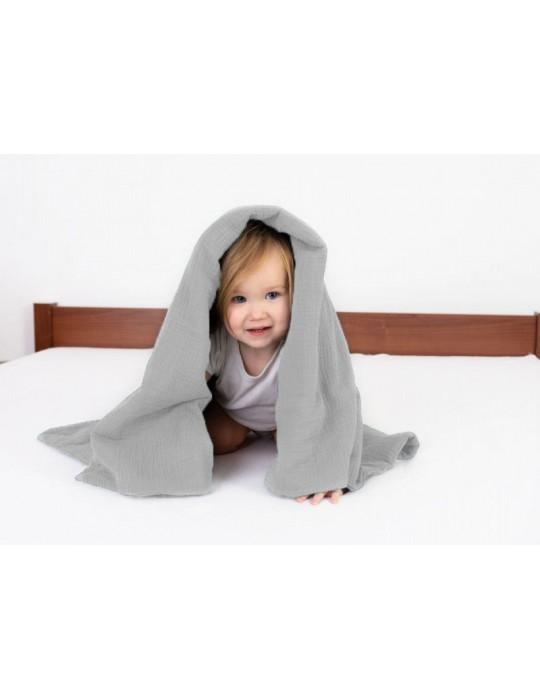BabyMatex Kocyk dla dziecku Muslin 75/100 szary
