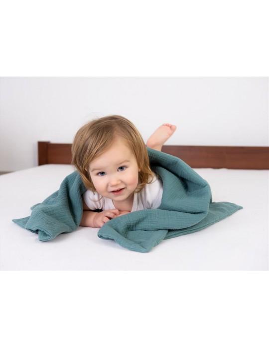 BabyMatex Kocyk dla dziecku Muslin 75/100 miętowo-zielony