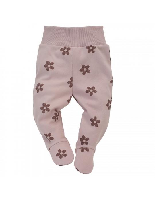 Pinokio Półśpioch niemowlęcy bawełniany różowe druk Happiness 56-62