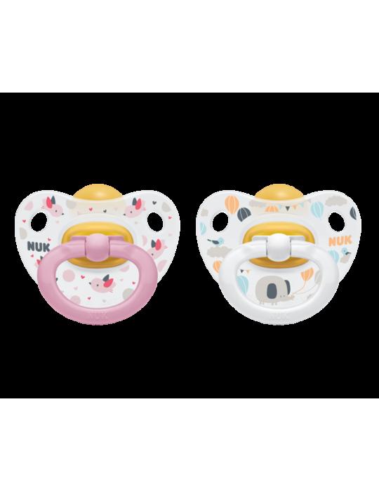 Nuk Smoczek kauczukowy anatomiczny Happy kids 6-18m różowy