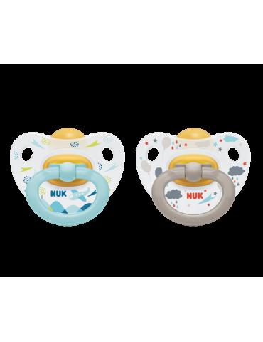 Nuk Smoczek kauczukowy anatomiczny Happy kids 6-18m niebieski